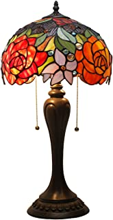 antique red lamps