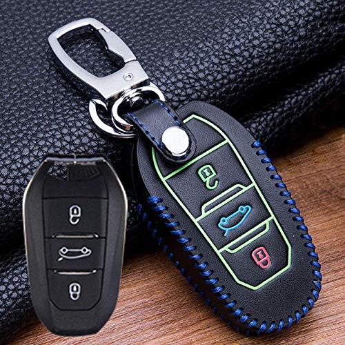 Llavero para la cubierta de la llave del auto, Aleación de zinc Luminoso Carcasa para la llave del auto para Hyundai Santa 2019 I30 Solaris 2016-2018 Azera Elantra Grandeur, E, Plata E-Plata
