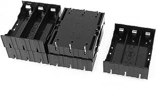 SODIAL 5 Pcs Black Plastic 3 x 3.7V 18650 Batteries 6 Pin Battery Holder Case