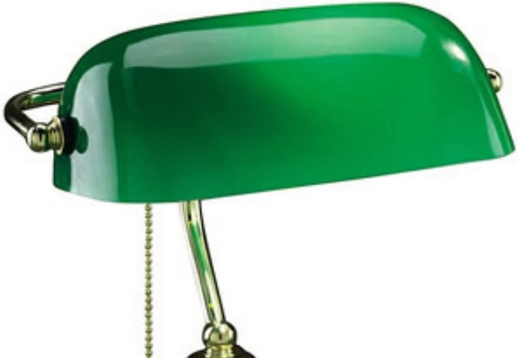 Upgradelights White Green Amber Duck Bill Glass Bankers Lamp Shade Standard Replacement Lampshade Amber