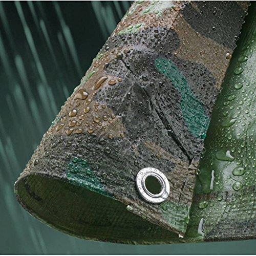 Kitnaster Supplies Camo Camouflage Waterproof Tarp Tarpaulin Ground Sheet Cover 80GSM Heavy Duty (1.8m 2.4m (6ft x 8ft))
