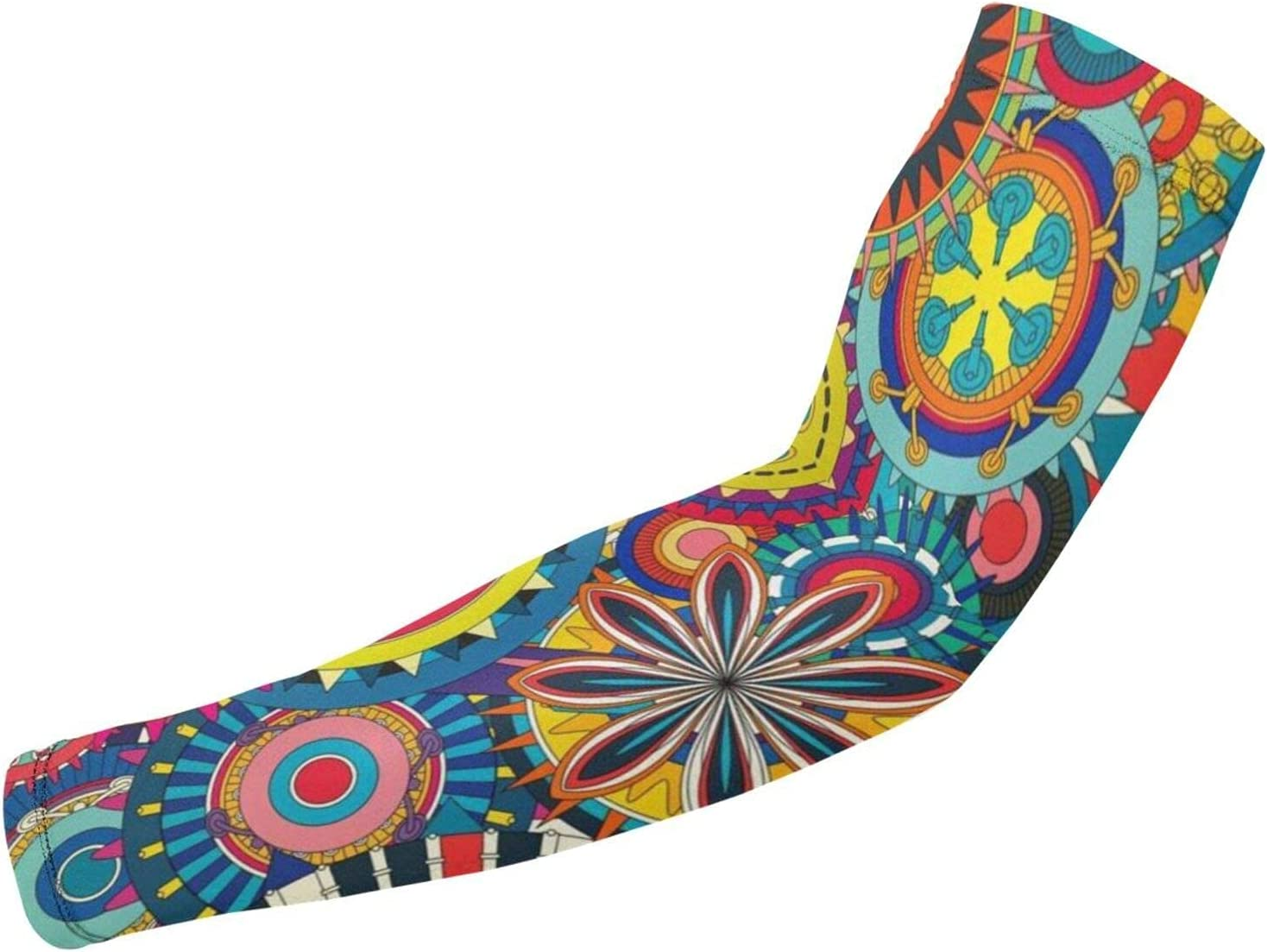 OMOXILOUY Psychedelic Clearance SALE Limited time Trippy Mandala Flower Gear Arm Los Angeles Mall Sunbl Guard