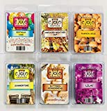 6 Pack Soy Blend Wickless Candle Tart Wax Bar Melts - All Seasons Gift Pack Comes with one Each Birthday Cake, Christmas Gingerbread, Lilac, Summertime, Pumpkin Spice, Sweater Weather