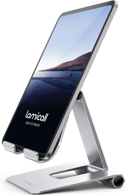 Lamicall Soporte Tablet, Multiángulo Soporte Tablet - Plegable Soporte Ajustable para 4.7