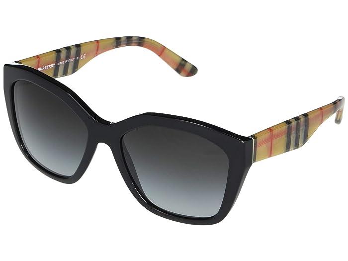 Burberry  0BE4261 (Black Vintage Check/Grey Gradient) Fashion Sunglasses
