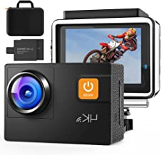 Action Camera 4K 60FPS 20MP Touch Screen 8X Zoom with...