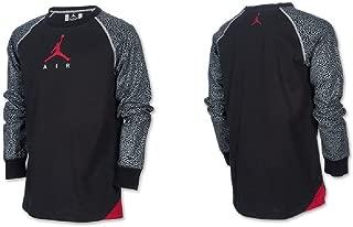 Boy's Jordan Elephant Print - Long-Sleeve Raglan Shirt Size 6 Black
