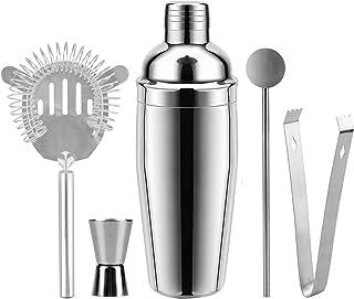 Cocktail Shaker, 26 oz Martini Shakers Professional Bar Set Stainless Steel Drink Shaker Bartender Barware Tools Kit, Doub...