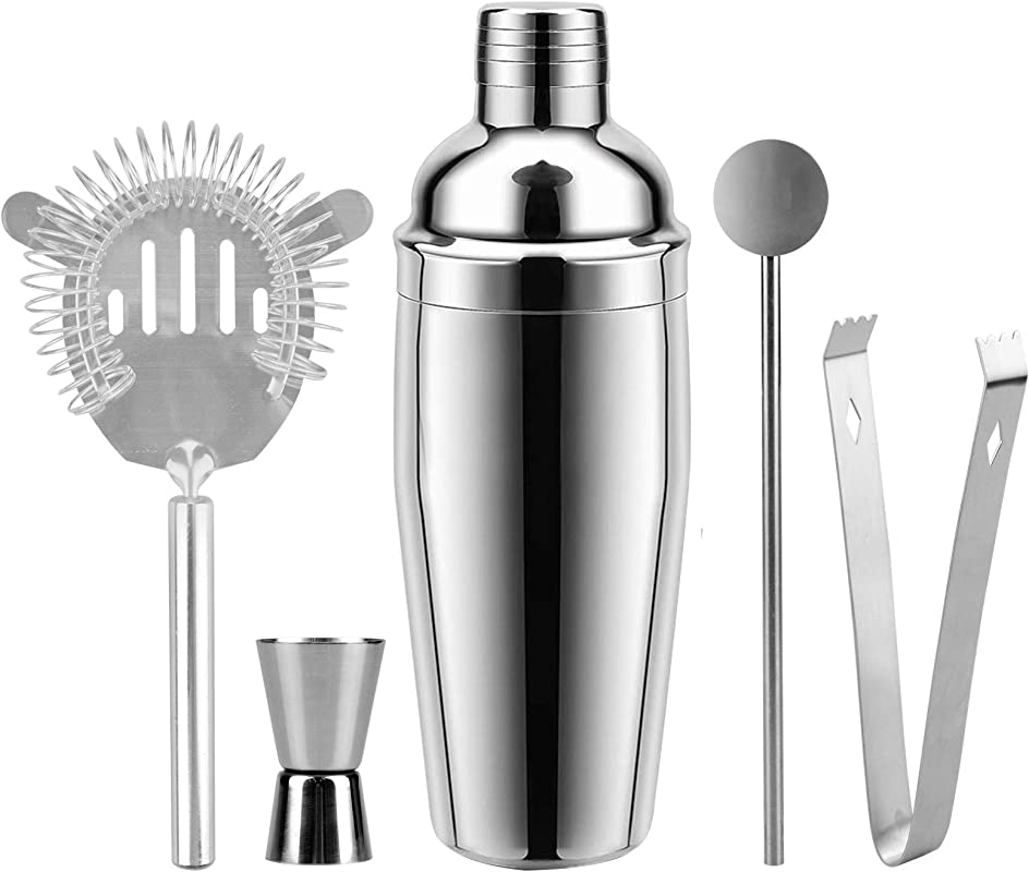 Cocktail Shaker 26 Ounce Martini Shakers Professional Stainless Steel Bartender Barware Tools Kit With Built In Strainer Drink Recipes By Abool