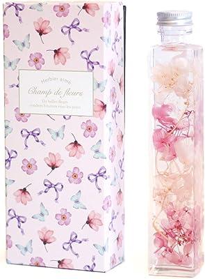 シャンド・フルール ハーバリウム プリザーブドフラワー ピンク かすみ草 アジサイ シリコンオイル