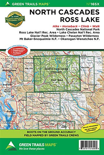 North Cascades National Park, WA No. 16SX (Green Trails Maps)