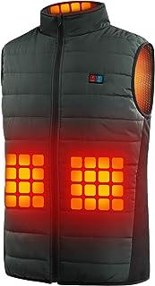 IFSONG 電熱ベスト ヒーターベスト 6つヒーター 前後独立 温度設定 3段階温度調節 USB給電 洗濯可能 超軽量 防寒ベスト 通勤 釣り 登山 スキー アウトドア 防寒対策