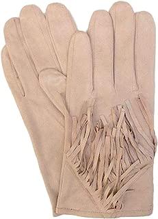 David /& Young Womens Tan Herringbone Stretch Fit Wool Texting /& Tech Gloves