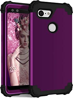 Google Pixel 3 XL Case, GPROVA [Shockproof] [Impact Protection] Dual Layers Impact Advanced Protective Cover for Google Pixel 3 XL (2018) (Purple + Black)