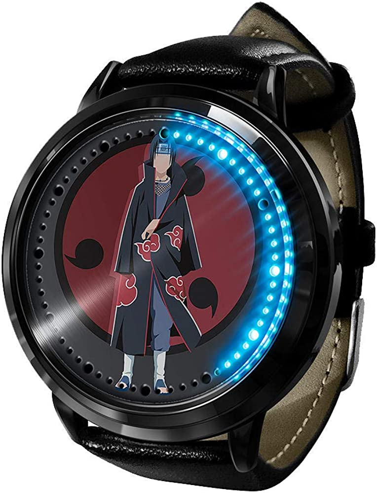 Anime Watch Super beauty product restock quality top! Naruto Kakashi LED Touch Screen Waterproof Fresno Mall Digital F