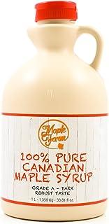 comprar comparacion ⭐Jarabe de arce Grado A (Dark, Robust taste) - 1 litro (1,35 Kg) - Miel de arce - Sirope de Arce - Original maple syrup