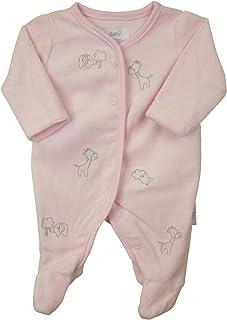 Babyprem Frühchen Schlafanzug Nicki-plüsch Elefanten und Giraffen