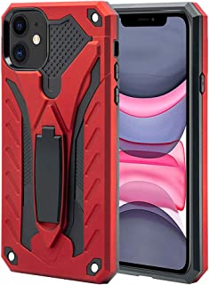 AFARER iPhone 11 case,Military Grade 12ft Drop Tested Protective Case with Kickstand,Military Armor Dual Layer Protective Cover Compatible with Apple iPhone 11 6.1 inch Red