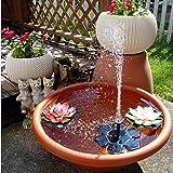 Rcool Outdoor Solar Power Bird Bath Water Fountain Pump Solar Sprinkler Fountain for Pool Pond Garden Patio Aquarium Decor