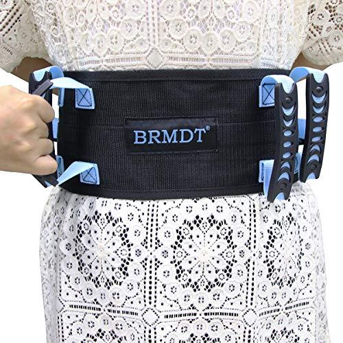 "BRMDT Gait Belts Transfer Belts With Handle, Seat Belt for Wheel Chair - Safety Gait Patient Assist-Lift Gait Belt Transfer Belt with Handles, One-click Quick Release Locking Buckle (31""-54"")"