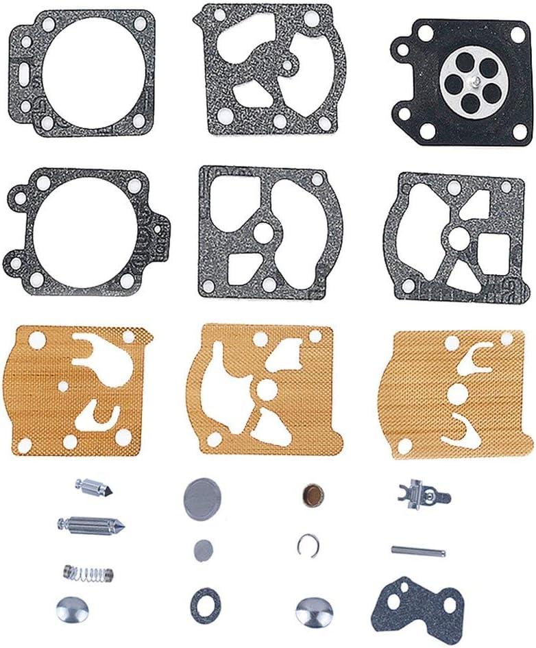 tooloflife Para K20-WAT WA WT WALBRO Carburador Diafragma Junta Reparación Aguja Carb Kit Nuevo