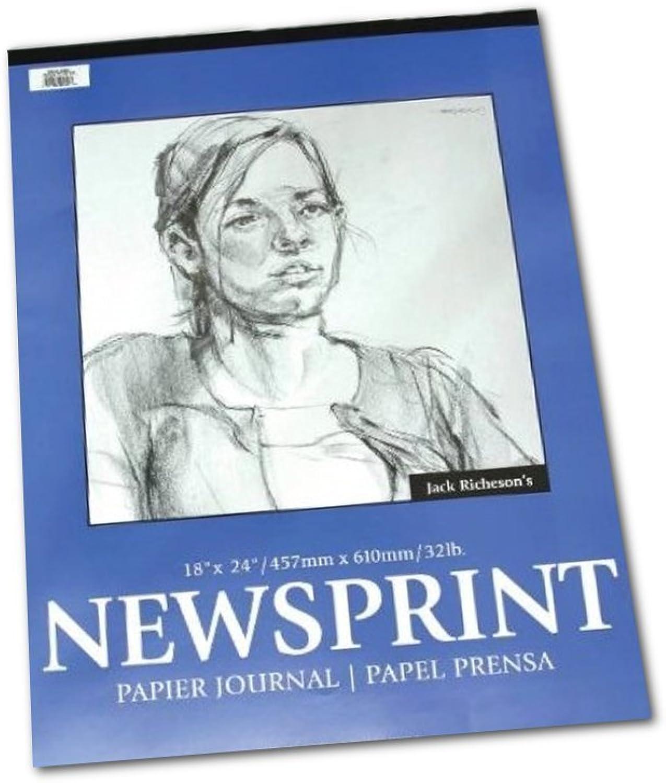 Jack Richeson Newsprint - Skizzenblock - Feine Oberflaeche - 46 cm x 61 cm - 50 Blatt B0043RMRUW    Modern