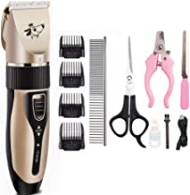 Yunhigh-uk Clipper Profesional inalámbrico para Perro Gato, afeitadora Recargable y Segura Recargable USB, Kit de Aseo para recortador de Pelo para Mascotas para el hogar