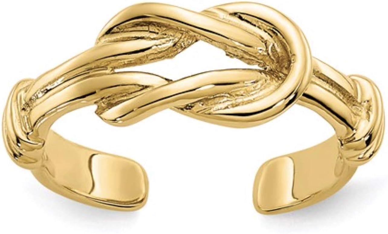 Nina's 14k Yellow Gold Love Knot Toe Ring