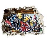 Marvel & Minions verschieden späht Kinder-Lieblings-Charaktere 35cm oder 70cm Wandtattoo, Vinyl, Motiv: Wandkunst, Customise4U (minions scooter smash, 700mm)