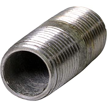 SUPPLY GIANT OQHM1215 Nipple Pipe, Single Unit, Galvanized