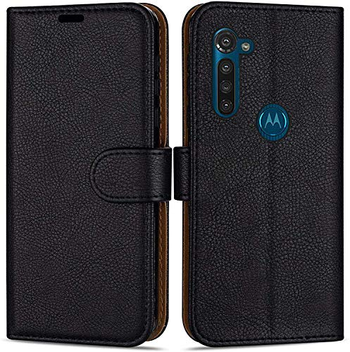 Hülle Collection Hochwertige Leder hülle für Motorola Moto G8 Power Hülle (6,0