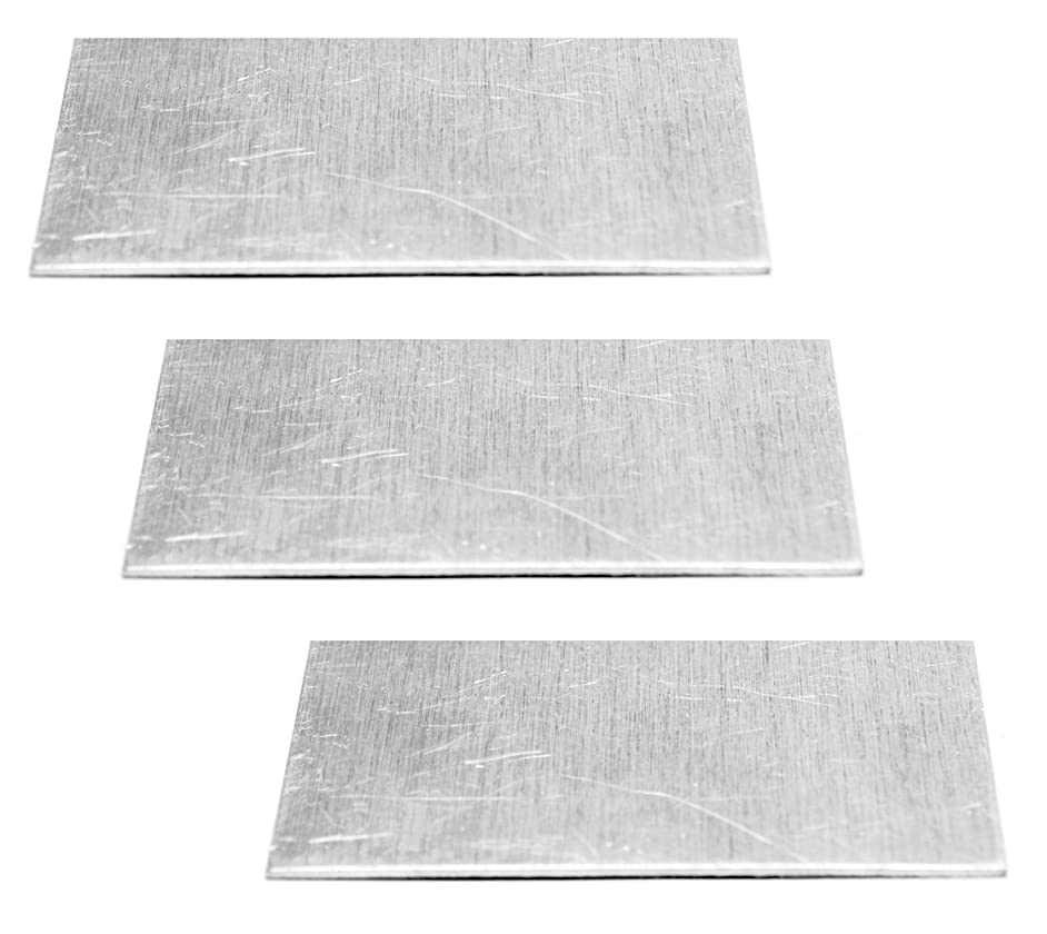 NinjaCrafters 1100 Pure Aluminum Rectangle Practice Sheets for Hand Stamping - Sale Three (3) 18 Gauge 3