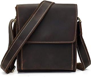 Handbag - Men's Sports Cycling Bag/Smooth Zipper/Internal Capacity/Dark Brown 25cm (H) X 22cm (W) X 9cm (Thick) Cool