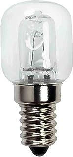 Bombilla de luz del Horno, Bombilla del Horno de electrodomésticos, Soporte de lámpara de 25W E14 Resistente a Alta Temperatura 500 ℃ lámpara halógena secador Bombilla de microondas