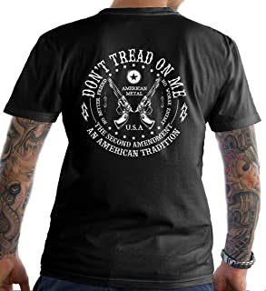 Don't Tread on Me: The Second Amendment. T-Shirt. Made in USA