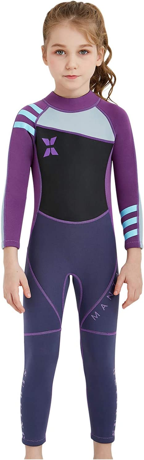 AceAcr 2021 autumn and winter new Kids Wetsuit 2.5mm discount Thick Diving Suit Thermal with Su Warm