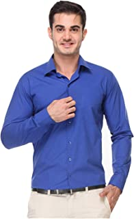 Raza Fashion Men's Red Regular Fit Formal Shirt
