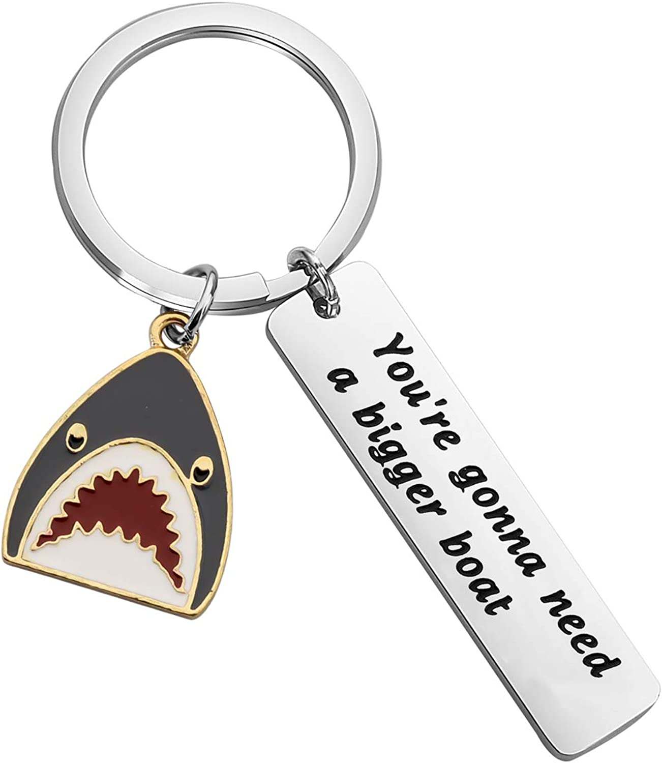 SEIRAA Topics on TV Shark Jewelry You're Gonna Attention brand Need Gi Boat A Keychain Bigger