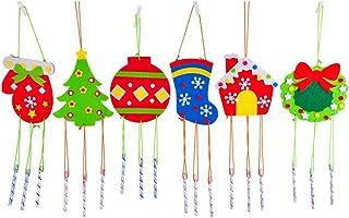 BESTOYARD 6pcs Christmas Bell Wind Chimes Hanging Christmas Tree Glove Christmas Ball Stocking House Ring Christmas Tree D...