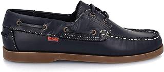 PAYMA - Chaussures Bateau Sport Homme en Cuir. Fermeture avec Deux œillets. Grandes Pointures 46 47. Brun Bleu Noir. Semel...