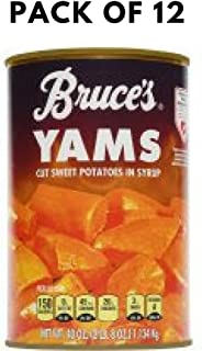 Bruce's Yams Cut Sweet Potatoes in Syrup, 40 oz - Pack of 12