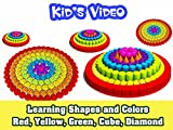 Learning Shapes and colors: Red, Yellow, Green, Cube, Diamond