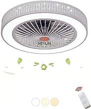 SLZ L/üfterleuchte Deckenventilator Deckenleuchte Kreative Deckenleuchte LED-Dimmer Deckenventilator mit Beleuchtung und Fernbedienung Leiser Kronleuchter ,Gold Energiestufe A