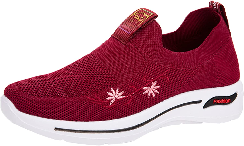 USYFAKGH Women's Walking Shoes Sock Sneakers - Mesh Slip On Air Cushion Lady Girls Modern Dance Easy Shoes Platform Loafers