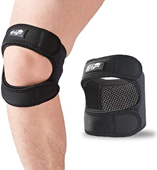 Patellar Tendon Support Strap (Large), Knee Pain Relief Adjustable Neoprene Knee Strap for Running, Arthritis, Jumper...