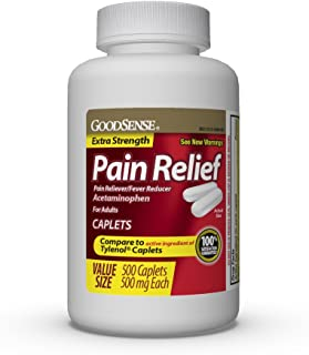 GoodSense Extra Strength Pain Relief, Acetaminophen Caplets, 500 mg, Temporarily Relieves Minor Aches and Pains and Reduces Fever, 500 Count