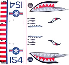 KA Mixer Cover Kit Flying Tiger Shark Plane Decal Sticker Red, White, Navy Blue, and Black, Designed to Fit All Kitchenaid Stand Mixers, Including Pro 600, and Artisan. Mixer Not Included.