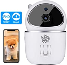 Doenssi Wireless Security Camera 1080P HD IP Indoor WiFi Pan/Tilt Camera with Night Vision Motion & Sound Detection Two Way Audio MicroSD Cloud Storage for Baby, Pet, Elder, Home Surveillance