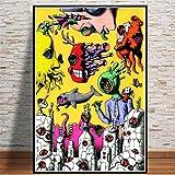Pintura psicodélica Salvador Dalí Surrealismo Abstracto Retro Wall Art Poster e Impresiones Cuadros de Pared para Sala de Estar Decoración del hogar -50x60cm sin Marco