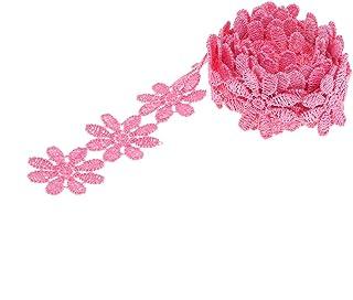 1 yard Blumen Lace Garn Roségold Borten Bänder Verzier Spitze Kleidung Hochzeit